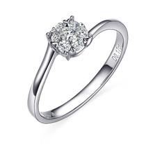 Gold Promise Ring, Diamond Ring In 18K White Gold, Diamond Commitment Ring