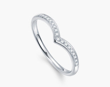 STACKABLE DIAMOND WEDDING CLAW SET BAND HALF-WAY AROUND RING IN 18K White GOLD CUSTOMIZE
