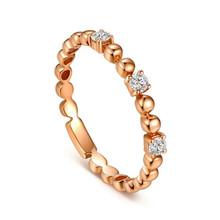 18K Gold Promise diamond Ring, Wedding diamond Ring band,