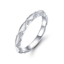 18k Gold Diamond Wedding Band  Prong Setting / Stackable Diamond Ring / Dainty Diamond Ring