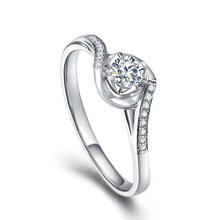 TWIST ENGAGEMENT DIAMOND RING 18K GOLD SOLITAIRE DIAMOND RING GIFT FOR HER PROMISE RING CUSTOMIZED