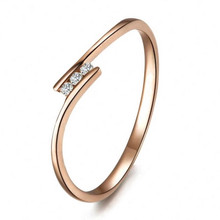 STACKABLE DIAMOND WEDDING CLAW SET BAND TAIL FINGER DIAMOND RING 18K GOLD CUSTOMIZE
