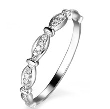 STACKABLE DIAMOND WEDDING CLAW SET BAND HALF WAY AROUND RING IN 18K GOLD CUSTOMIZE