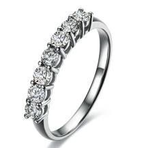 4-Prong Set Stone Diamond Wedding Band STACKABLE DIAMOND WEDDING CLAW SET BAND 18K Gold
