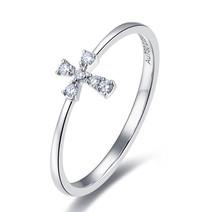 18K GOLD DIAMOND WEDDING RING BAND CROSS DIAMOND RING IN 18K GOLD CUSTOMIZE