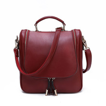 Waterproof  Leather women girl small tote handbag shoulder bag backpack
