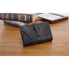 Vintage Leather women girl zip wallet purse