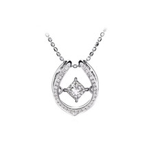 Princess cut 0.30 CT diamond 18 kt pandent necklace customize