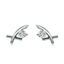 18Kt Gold Diamond Earrings 0.12 CT