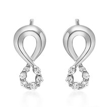18Kt Halo Diamond Earrings, Bridal Unique Stud Diamond Earrings,