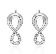 18Kt Halo Diamond Earrings, Bridal Unique Stud Diamond Earrings,