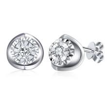 18Kt Gold Diamond Stub Earrings  1CT effect