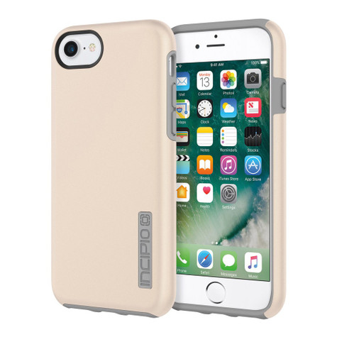 hot sale online ce6c0 8b746 Incipio DualPro Case iPhone 7 - Iridescent Champagne/Gray