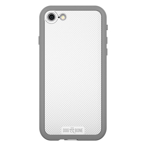 Dog & Bone Wetsuit Impact Waterproof Rugged Case iPhone 7 - White/Grey