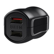 EFM Wall Charger 3.4A Dual USB Rapid Charge W/Reverse Micro USB Cable - Black