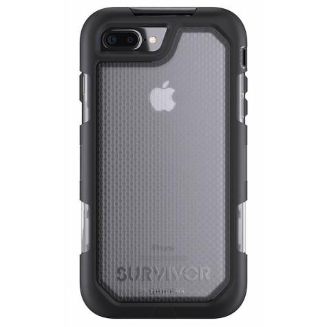 buy online 5b29b 7a95e Griffin Survivor Summit Case iPhone 7+ Plus - Black/Clear