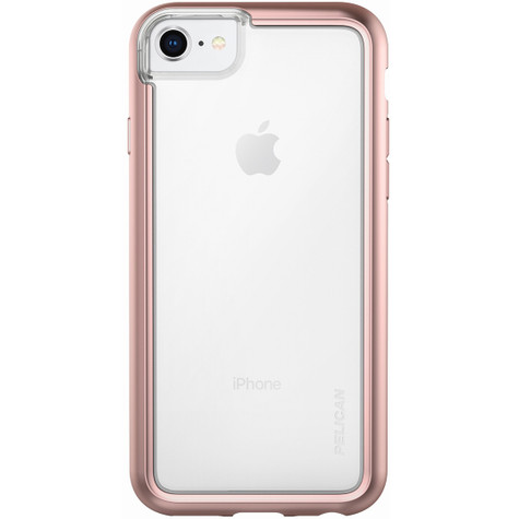 timeless design 8c489 46be4 Pelican ADVENTURER Case iPhone 8/7/6/6S - Clear/Metallic Rose Gold