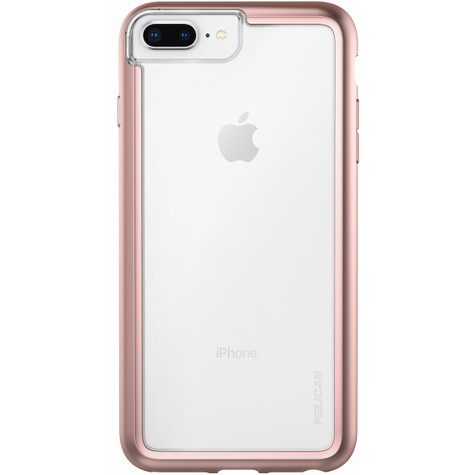 online retailer 47083 8dcd1 Pelican ADVENTURER Case iPhone 8+/7+/6+/6S+ Plus - Clear/Metallic Rose Gold