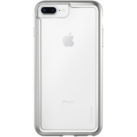 quality design c069a f7d2c Pelican ADVENTURER Case iPhone 8+/7+/6+/6S+ Plus - Clear/Metallic Silver