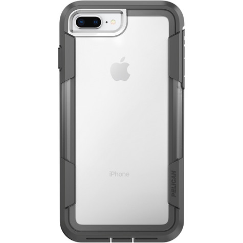online store 60075 02d1a Pelican VOYAGER Case iPhone 8+ Plus - Clear/Grey