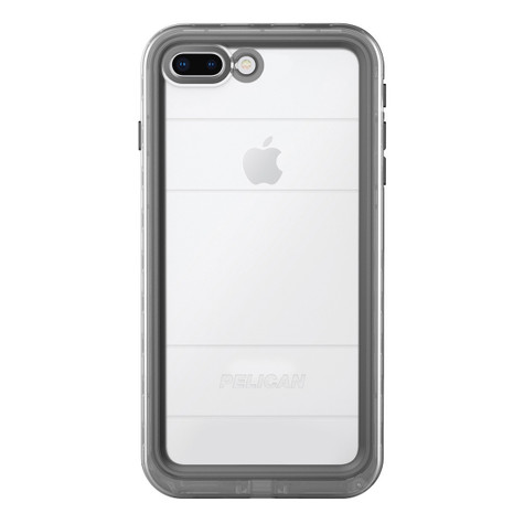 new styles 1a1cb 3a0ce Pelican MARINE Case iPhone 8+/7+ Plus - Black/Clear