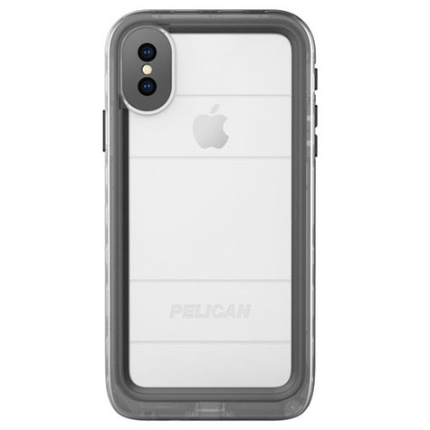 best sneakers af583 4bc7f Pelican MARINE Case iPhone X - Black/Clear