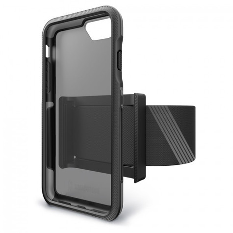 BodyGuardz Trainr Pro Unequal Case iPhone 8/7/6/6S - Black/Grey