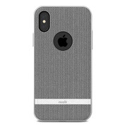 Moshi Vesta Case iPhone X/Xs - Herringbone Grey