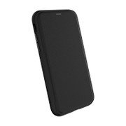 EFM Monaco D3O Leather Wallet Case iPhone XR - Black/Space Grey