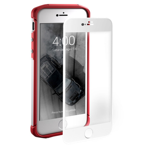 Element Tempered Glass Screen Protector iPhone 8/7 - White Frame