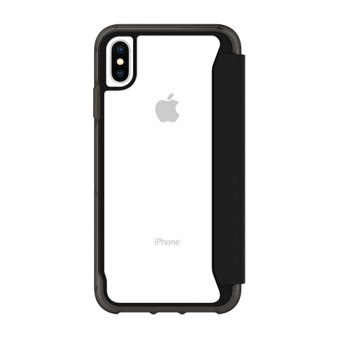 promo code 3ad86 ac6f4 Griffin Survivor Clear Wallet Case iPhone Xs Max - Black/Clear