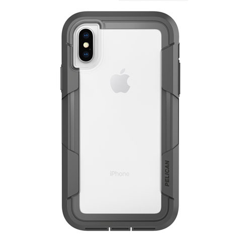 Pelican VOYAGER Case iPhone X/Xs - Clear/Grey