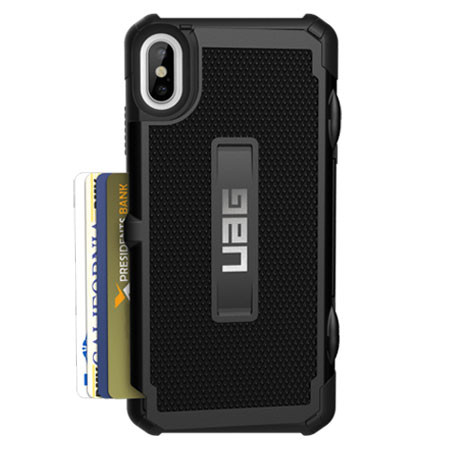 info for da740 e1373 UAG Trooper Card Wallet Case iPhone Xs Max - Black