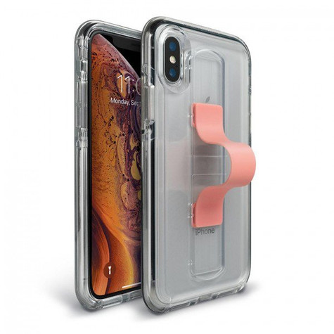 save off 7394d 75477 BodyGuardz SlideVue Case iPhone Xs Max - Clear/Pink