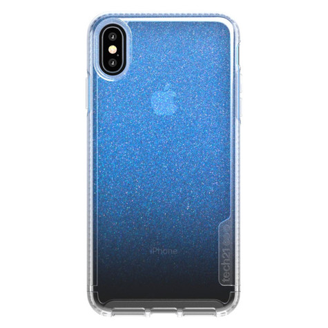 best loved b310f b032c Tech21 Pure Shimmer Case iPhone Xs Max - Blue