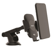 EFM 10W Wireless Auto-Sensor Car Mount (Type C to C Cable) & 39W Car Charger - Black