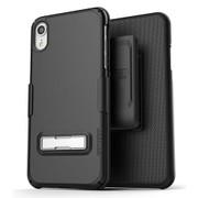 Encased Slimline Case iPhone XR with Belt Clip Holster - Black