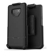 Encased Rebel Case Samsung Galaxy Note 9 with Belt Clip Holster - Black