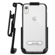 Encased Reveal Case iPhone XR with Belt Clip Holster - Black