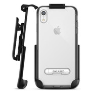Encased Reveal Case iPhone XR with Belt Clip Holster - Silver