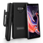 Encased Slimline Case Samsung Galaxy Note 9 with Belt Clip Holster - Black