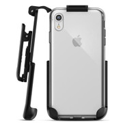 Encased Clear Back Case iPhone XR with Belt Clip Holster - Clear