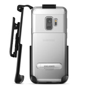 Encased Reveal Case Samsung Galaxy Note 9 with Belt Clip Holster - Silver