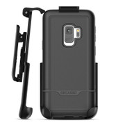 Encased Rebel Case Samsung Galaxy S9 with Belt Clip Holster - Black
