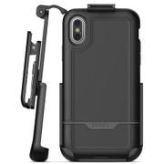 Encased Rebel Case iPhone Xs Max with Belt Clip Holster - Black