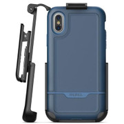 Encased Rebel Case iPhone Xs Max with Belt Clip Holster - Blue