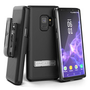 Encased Slimline Case Samsung Galaxy S9 with Belt Clip Holster - Black