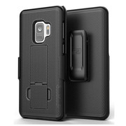 Encased Combo Case Samsung Galaxy S9 with Belt Clip Holster - Black