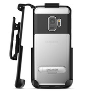 Encased Reveal Case Samsung Galaxy S9 with Belt Clip Holster - Black