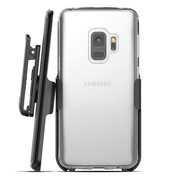 Encased Crystal Case Samsung Galaxy S9 with Belt Clip Holster - Clear